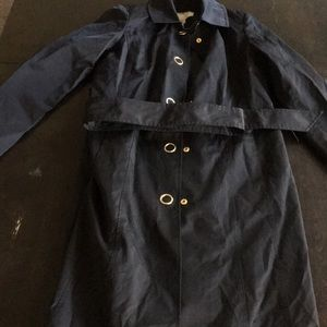 Anne Klein Black Overcoat w/Belt